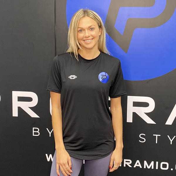Program 10 Dri Fit T-shirt modelled by Program 10 coach and GB Olympian Tonia Couch